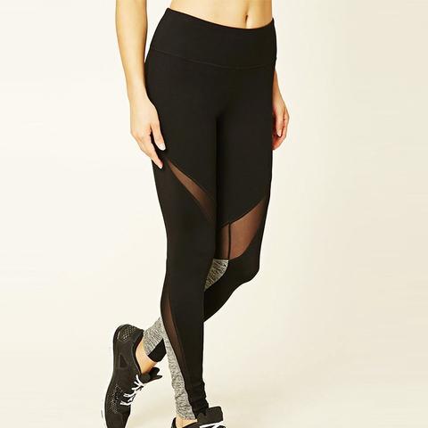 Active Mesh-Paneled Leggings