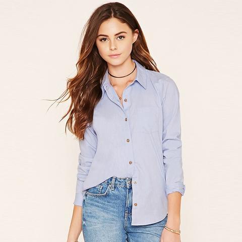 Slim-Fit Pocket Oxford Shirt