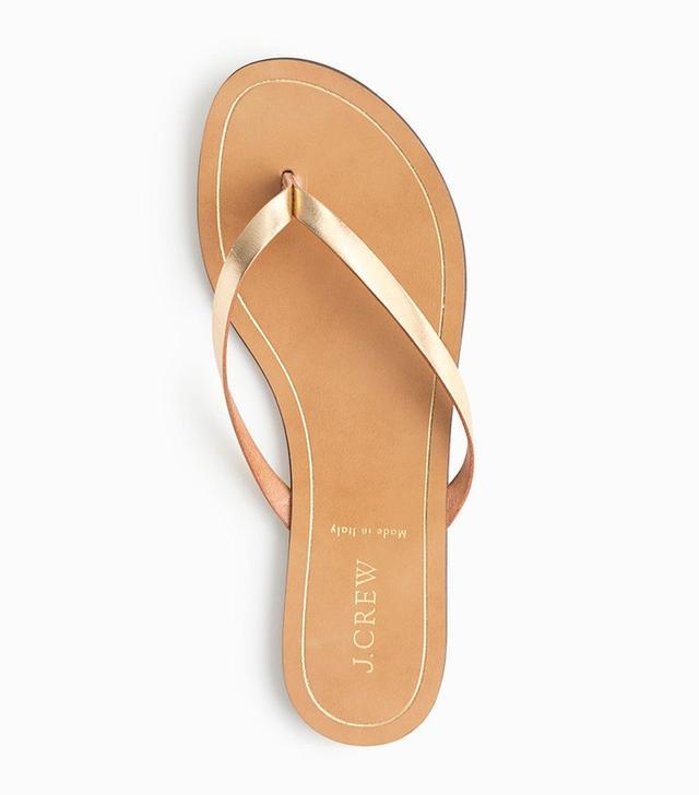 J.Crew Rio Metallic Sandals