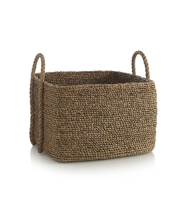 Crate and Barrel Tyler Square Basket With Rope Handle