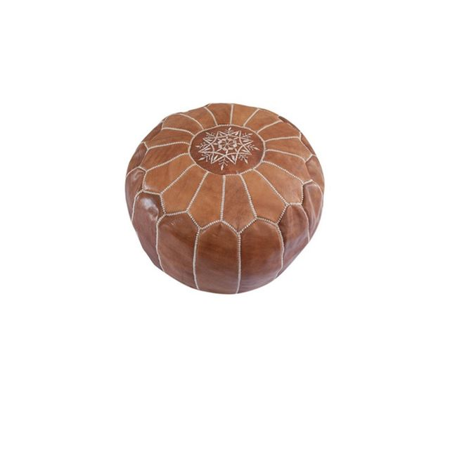 Table Tonic Handmade Moroccan Leather Pouffe