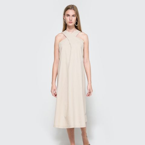 Sarong Dress In Ecru