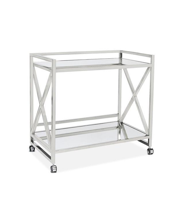 stainless steel bar cart