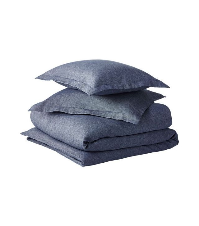 CB2 Weekendr Blue Chambray Bed Linens