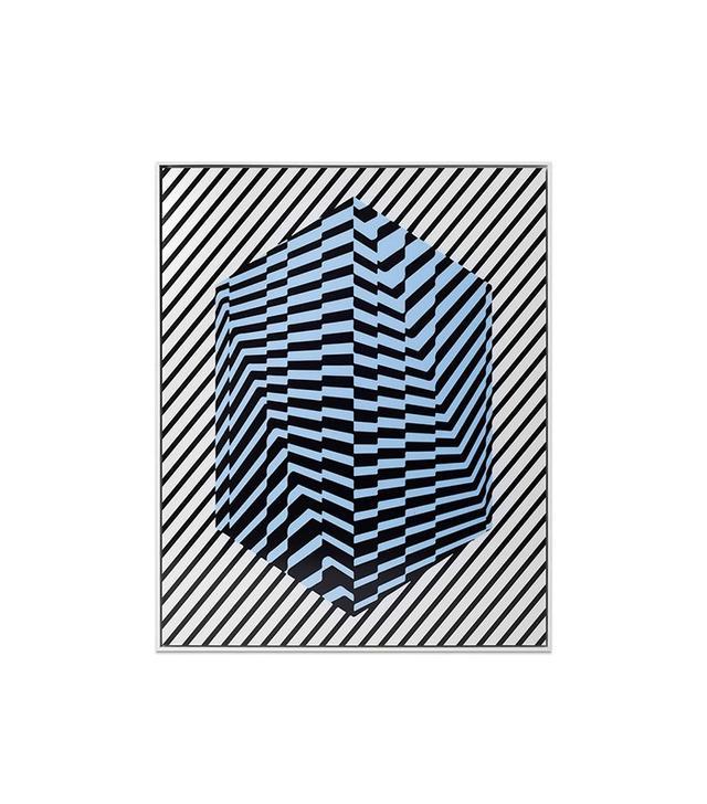 """Overlapped: Striped Cube"" by Kris Tamburello"