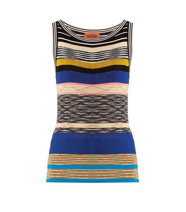 Missoni Striped Ribbed-Knit Top
