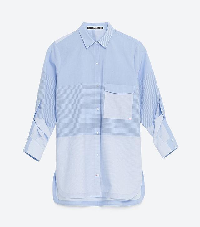 Zara Striped Poplin Shirt
