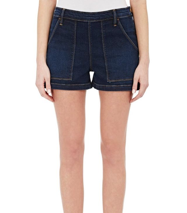 Frame Antibes Side-Snap Shorts