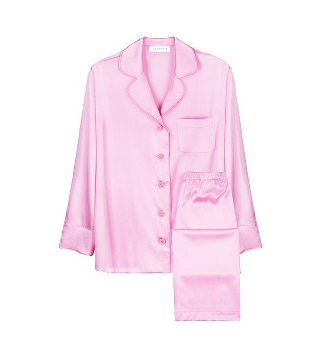 Sleeper Garden Rose Silk Pajama With Pants