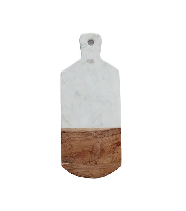 West Elm Marble and Wood Cutting Board