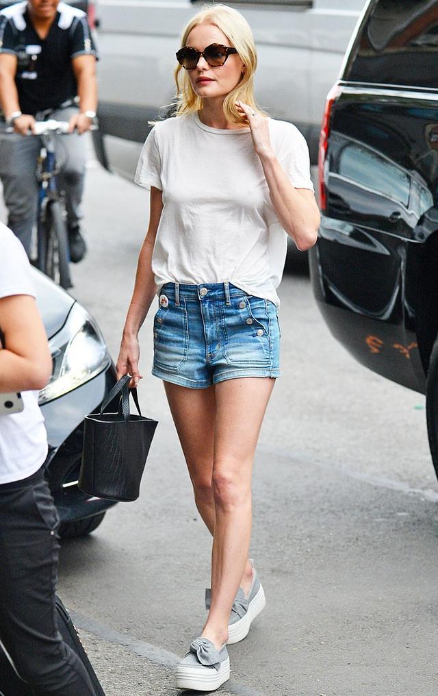 On Kate Bosworth: KG Kurt Geiger Lucky Flatform Shoes ($185).