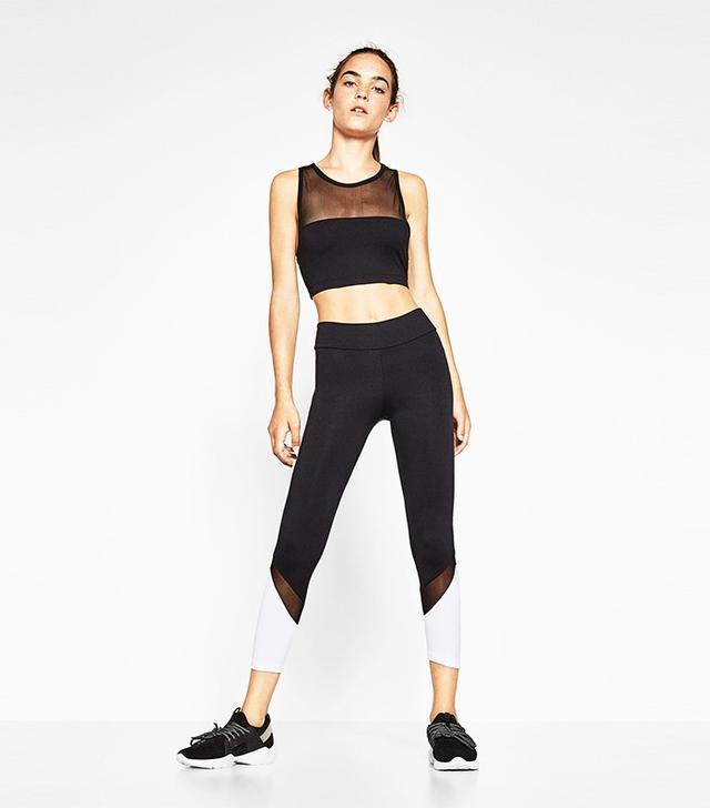 Zara Semi-Transparent Sports Top