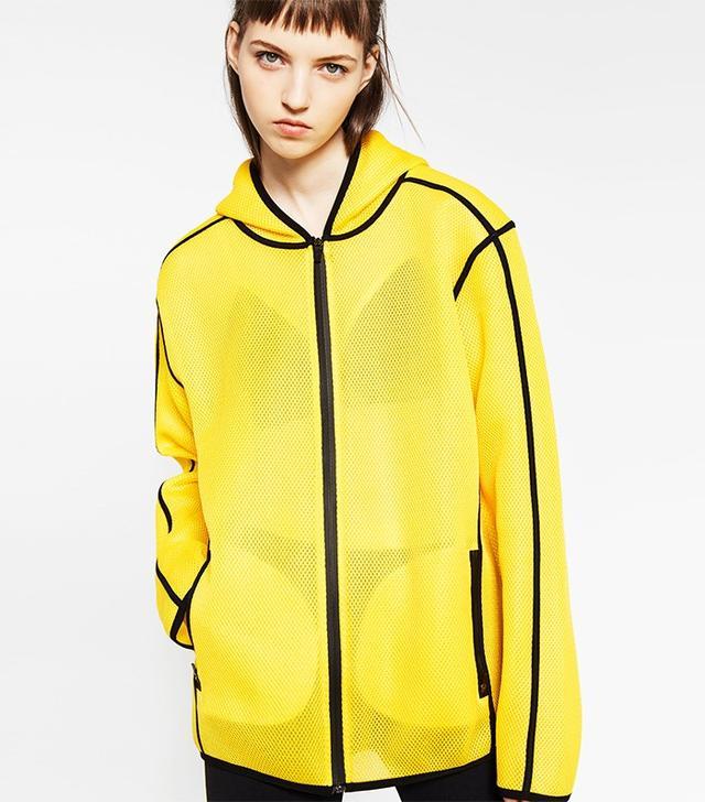 Zara Hooded Mesh Jacket