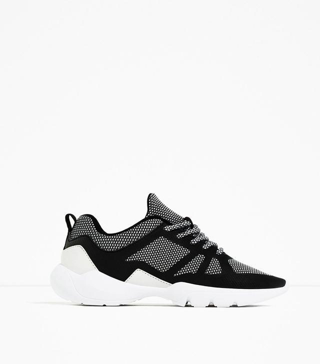 Zara Contrast Sneakers