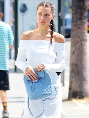 Bella Hadid Shows Us How to Wear Off-the-Shoulder Through Winter