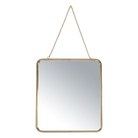 Freedom Jacobson Hanging Mirror 37x41cm in Gold Colour