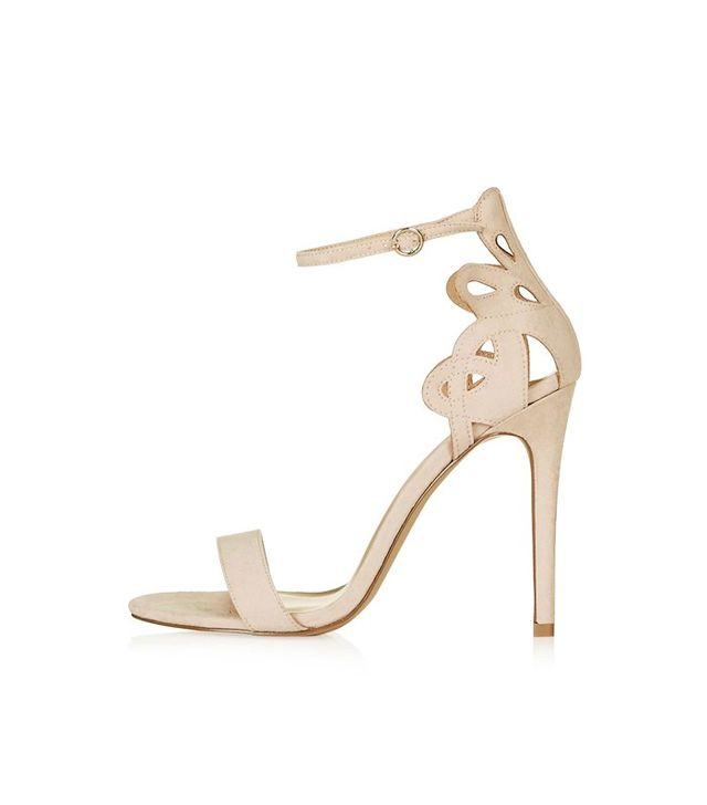 Topshop Mindy Two-Part Swirly Heels