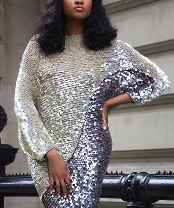 Style Tip: Jazz things up with a sequined dress.