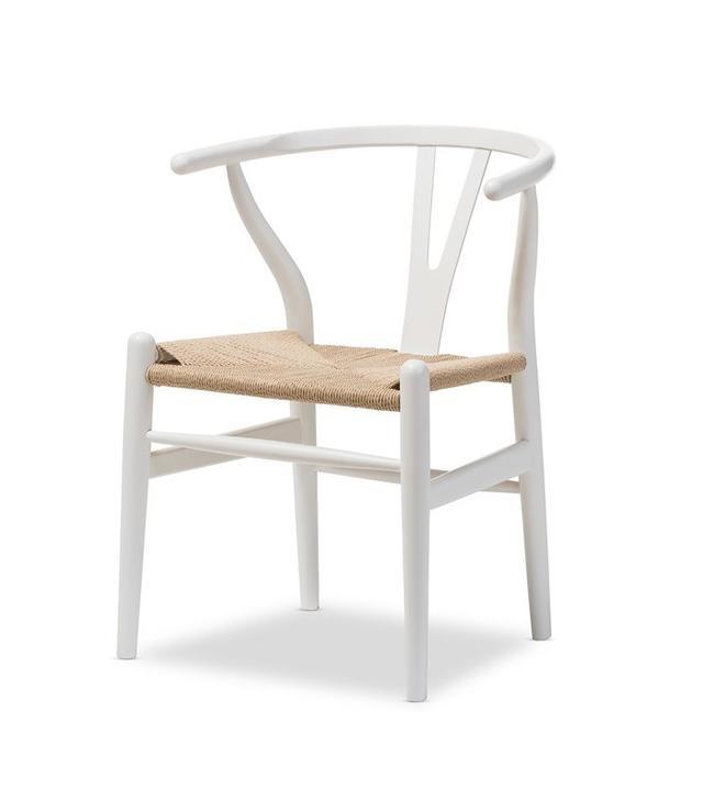 Baxton Studio Wishbone Modern White Wood Dining Chair