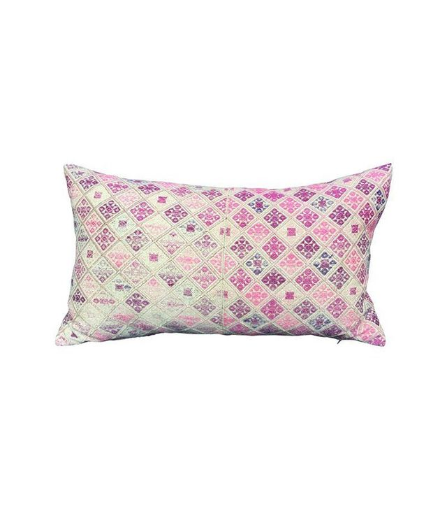 Chairish Antique Pink Tribal Wedding Quilt Pillow