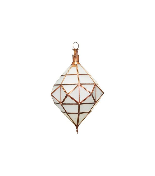 Berbere World Imports Large Moroccan Diamond Shaped Lantern