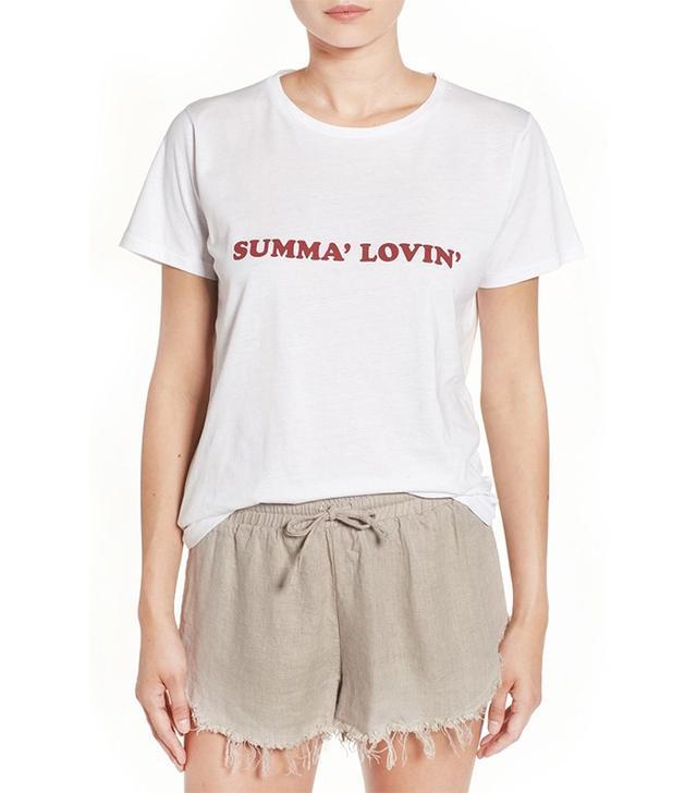 Shop Sincerely Jules Summa Lovin Cotton Graphic Tee