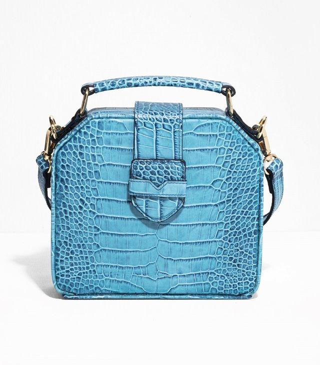 & Other Stories Structured Croco-Embossed Leahter Bag