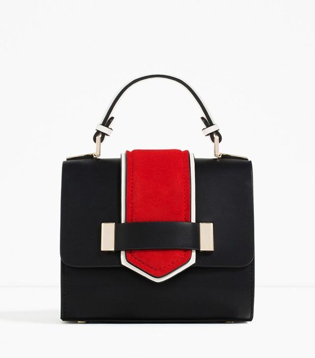 Zara Contrast Mini City Bag