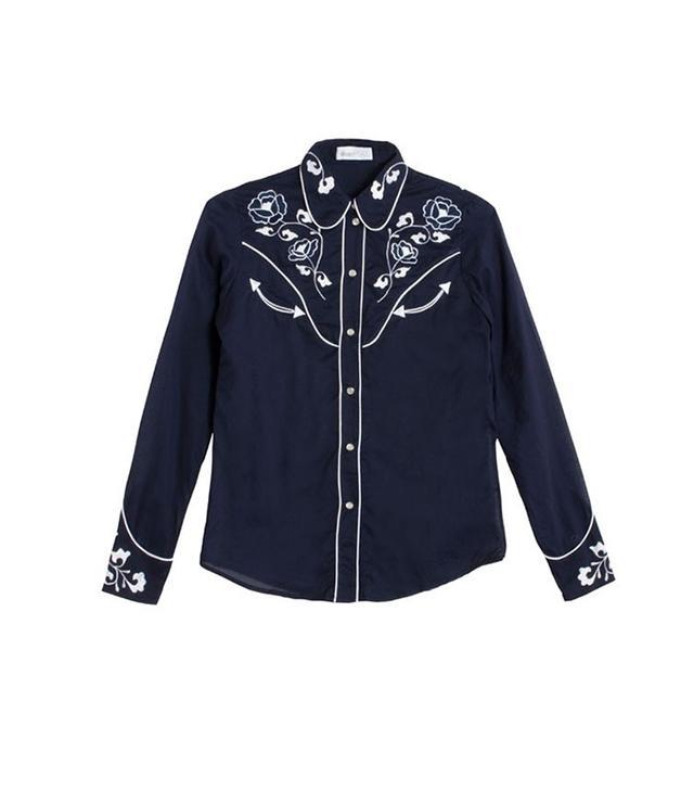 Alice McCall Blue Cotton Eyed Jo Shirt