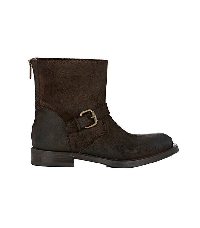 Barneys New York Back-Zip Moto Boots