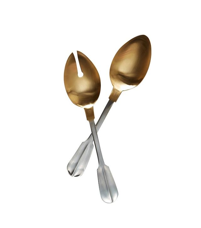Anthropologie Gold-Tipped Serving Set