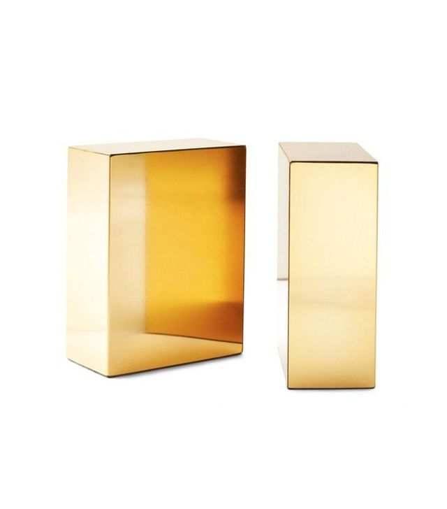 El Casco Pair of Gold-Plated Bookends