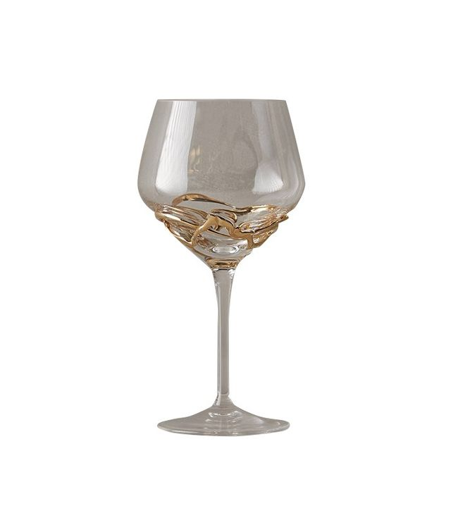 Anthropologie Glimmer-Wrapped Red Wine Glass