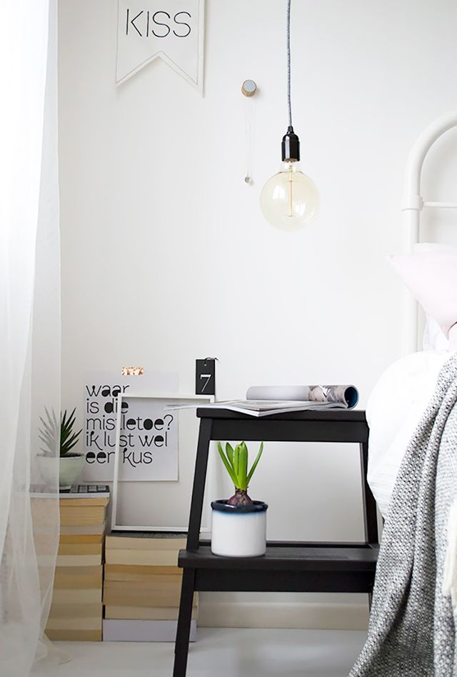 Nothing breaks up the monotony of a space quite like greenery does. It adds a fresh perspective and a foolproof way to brighten up any dull interior. The IKEA step stool doubles as the ideal plant...