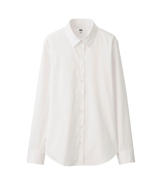 Uniqulo Supima Cotton-Stretch Long Sleeve Shirt