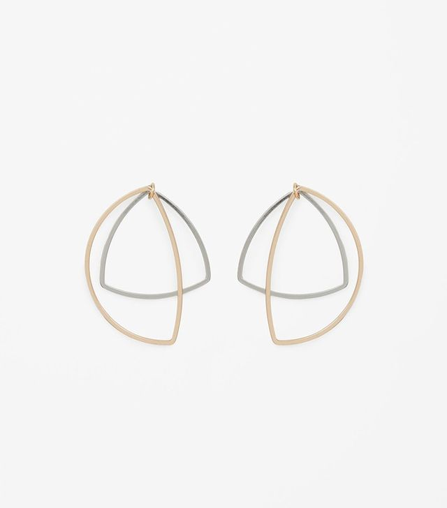 COS Large Contrast Shape Earrings