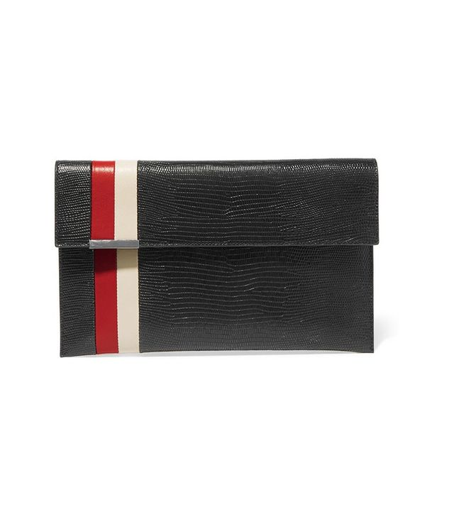 Tomasini Daytona Lizard-Effect Leather Clutch