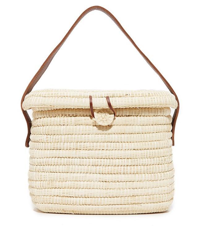 Sensi Studio Straw Basket Bag