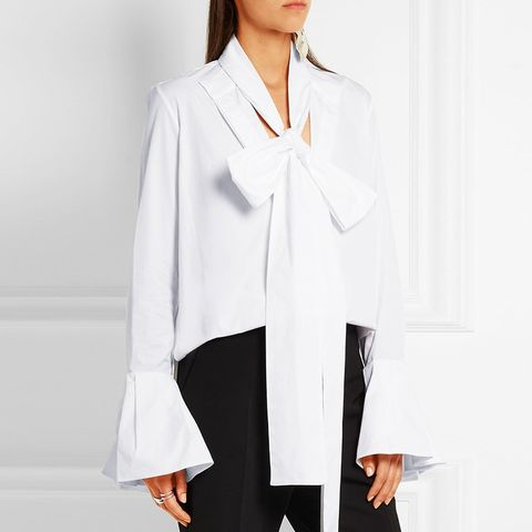 Little Me Ruffled Cotton-Poplin Blouse