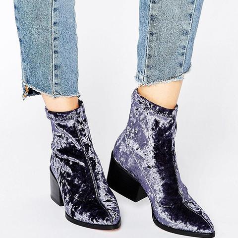 Rocco Velvet Sock Boots