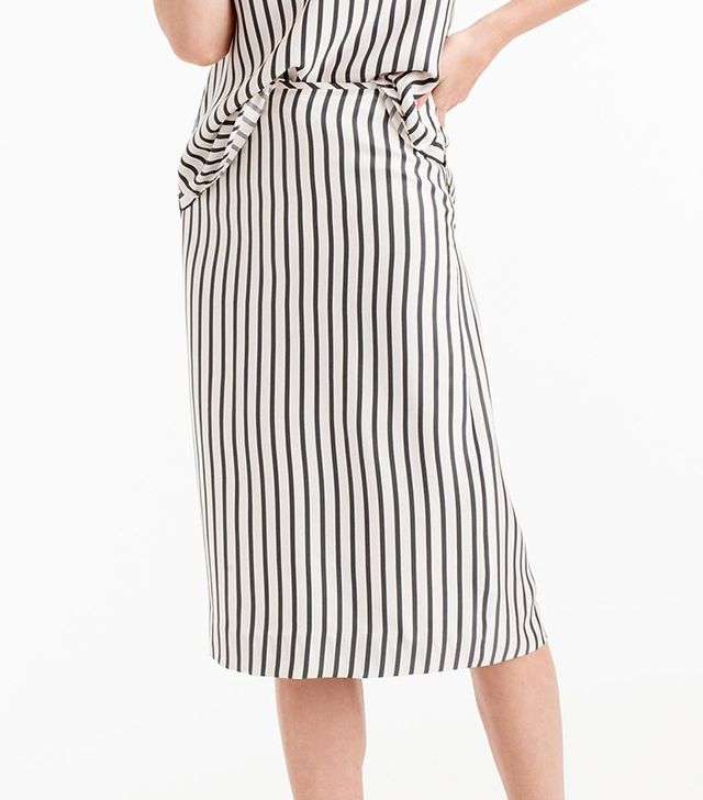 J.Crew Collection Silk Striped Skirt