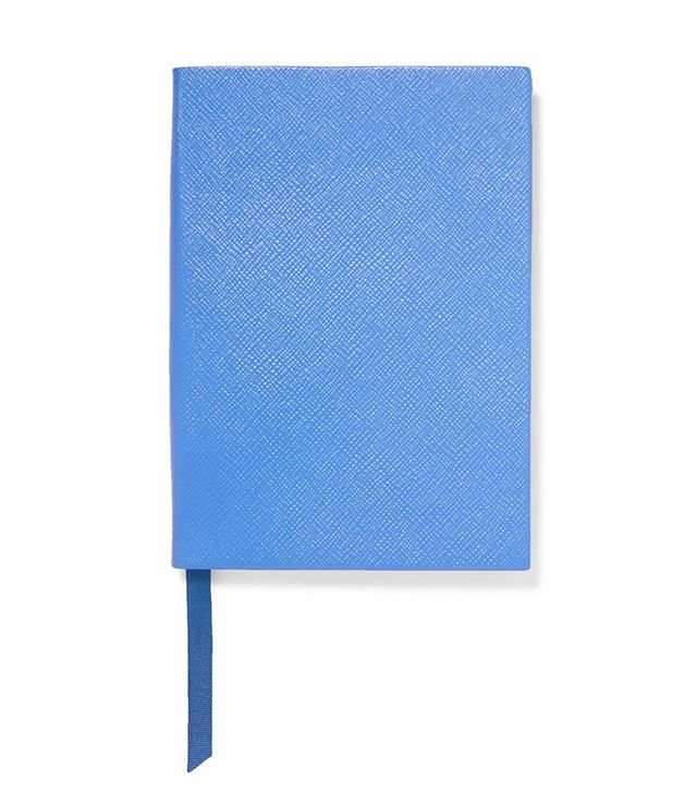 Smythson Soho Textured Leather Notebook