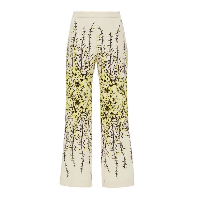 Giambattista Valli Flared Floral Trousers