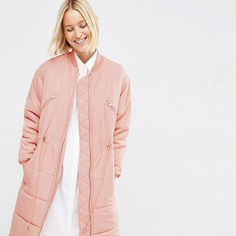 Quilted Longline Parka