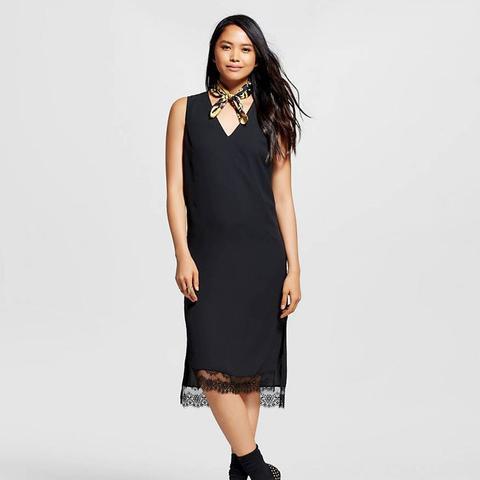 Lace Trim Tank Dress