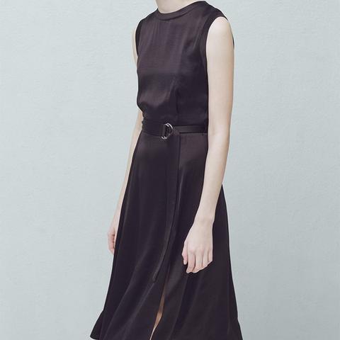 Belt-Satin Dress