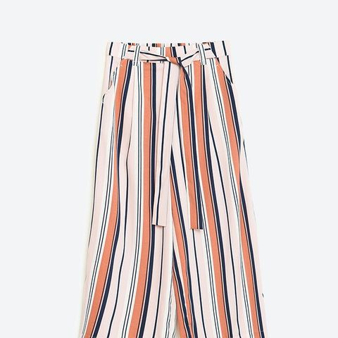Cropped Flowing Trousers