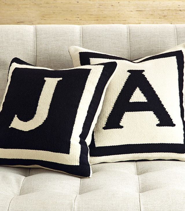 Jonathan Adler Reversible Letter Throw Pillow