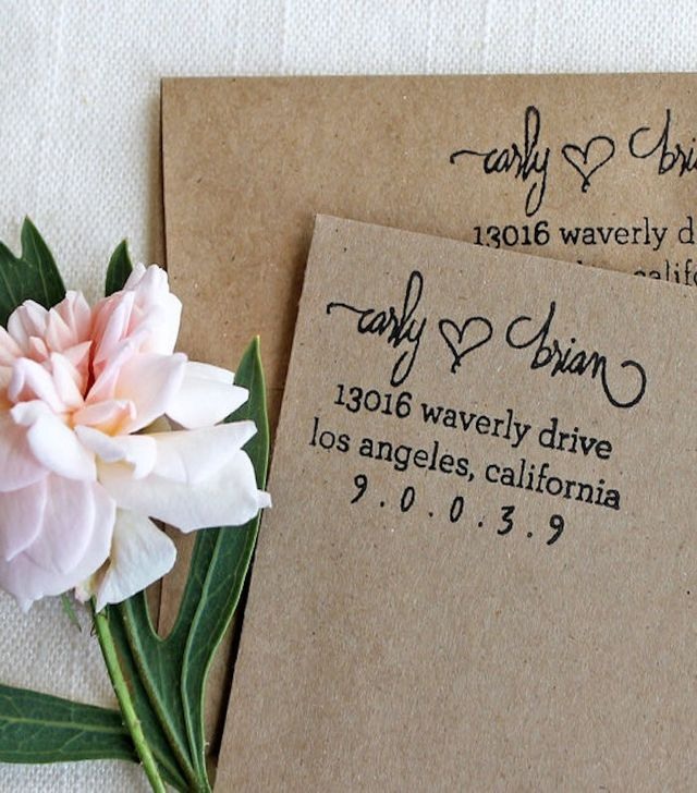 Flourish Design Co. Custom Return Address Stamp