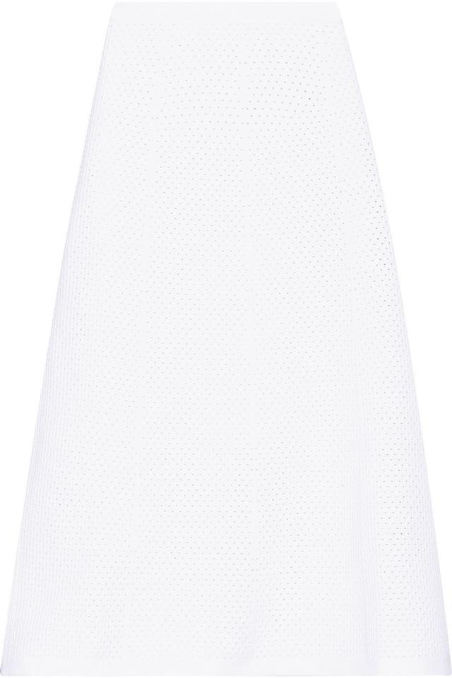 Victoria Beckham Elite Crocheted Midi Skirt